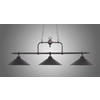 Westmore Lighting 16-in 3-Light Tiffany Bronze Island Light with Tinted Shade