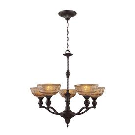 Shop Westmore Lighting Norwich 5-Light Oiled Bronze Chandelier at