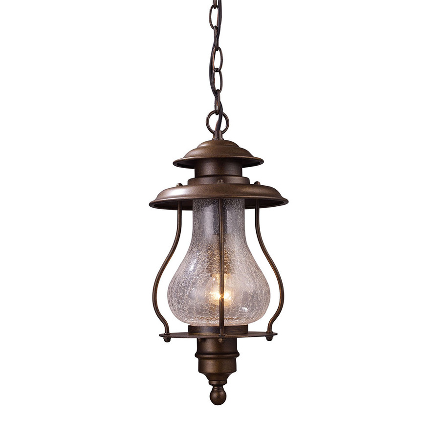 Outdoor Hanging Lanterns Lowes: Shop Westmore Lighting 16-in H Coffee Bronze Outdoor