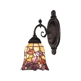 Westmore Lighting Mix-N-Match 4.5-in W 1-Light Tiffany Bronze Tiffany-Style Arm Hardwired Wall Sconce