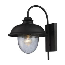 Westmore Lighting Brier 15-in H Medium Base (E-26) Matte Black Outdoor Wall Light