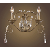 Westmore Lighting 16-in W Angelite 2-Light Weathered Silver Crystal Arm Wall Sconce