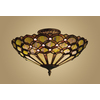 Westmore Lighting 16-in Tiffany Bronze Opalescent Glass Semi-Flush Mount Light