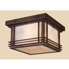 Westmore Lighting Outdoor 11-in W Hazelnut Bronze Outdoor Flush Mount Light