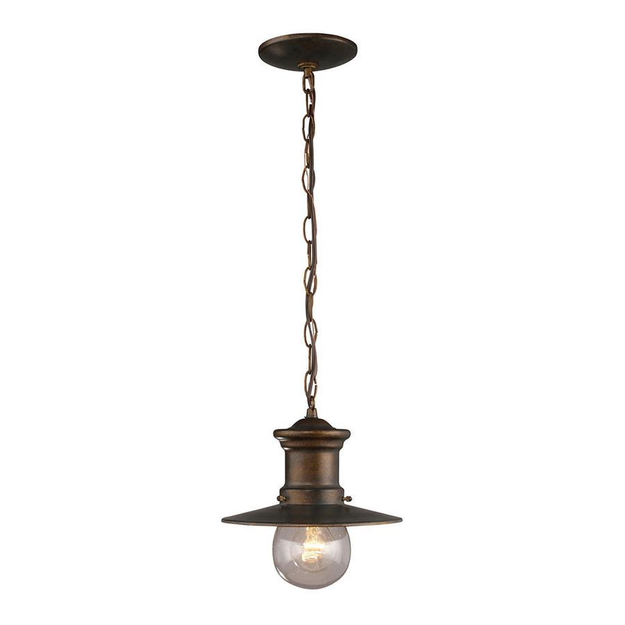 lighting del mar 10 in hazelnut bronze outdoor pendant light at lowes. Black Bedroom Furniture Sets. Home Design Ideas