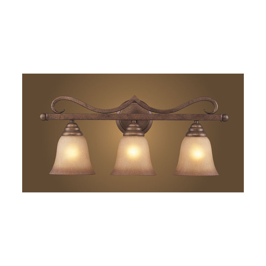 Lowes Vanity Lights For Bathroom : Shop Westmore Lighting 3-Light Lawrenceville Mocha Bathroom Vanity Light at Lowes.com