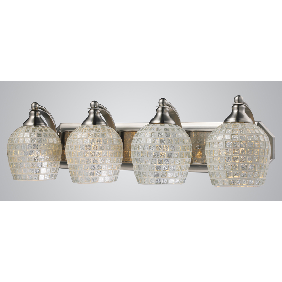Shop Westmore Lighting 4-Light Satin Nickel Bathroom Vanity Light at Lowes.com