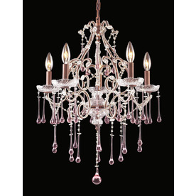 Westmore Lighting Opulence 5-Light Rust Crystal Chandelier