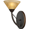 Westmore Lighting 7-in W Elysburg 1-Light Aged Bronze Arm Wall Sconce