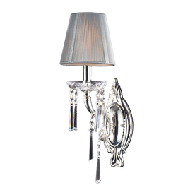 Westmore Lighting Dutchess 6-in W 1-Light Polished Silver Arm Hardwired Wall Sconce