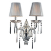 Westmore Lighting Princess 17-in W 2-Light Polished Silver Crystal Arm Hardwired Wall Sconce