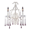 Westmore Lighting 12-in W Opulence 2-Light Antique White Crystal Arm Wall Sconce