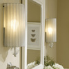 Westmore Lighting Alexis 7-in W 1-Light Antique Silver Arm Hardwired Wall Sconce