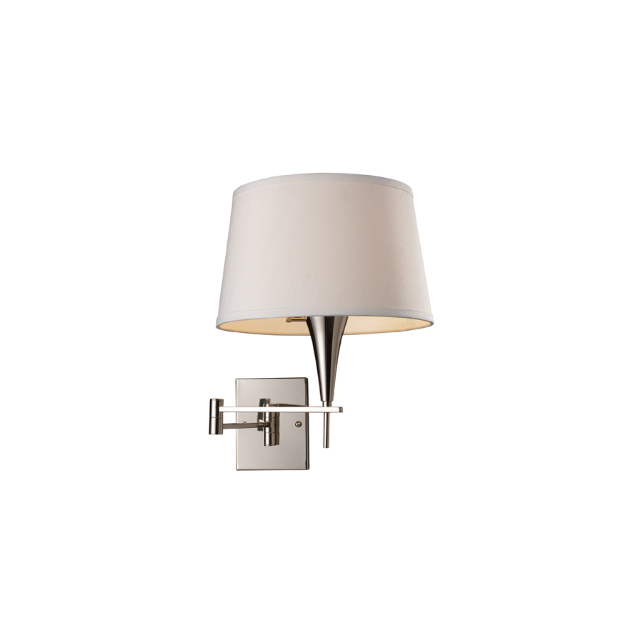 Lowes Wall Sconces Plug In : Shop Westmore Lighting Swingarm 12-in W 1-Light Polished Chrome Arm Hardwired/Plug-In Wall ...