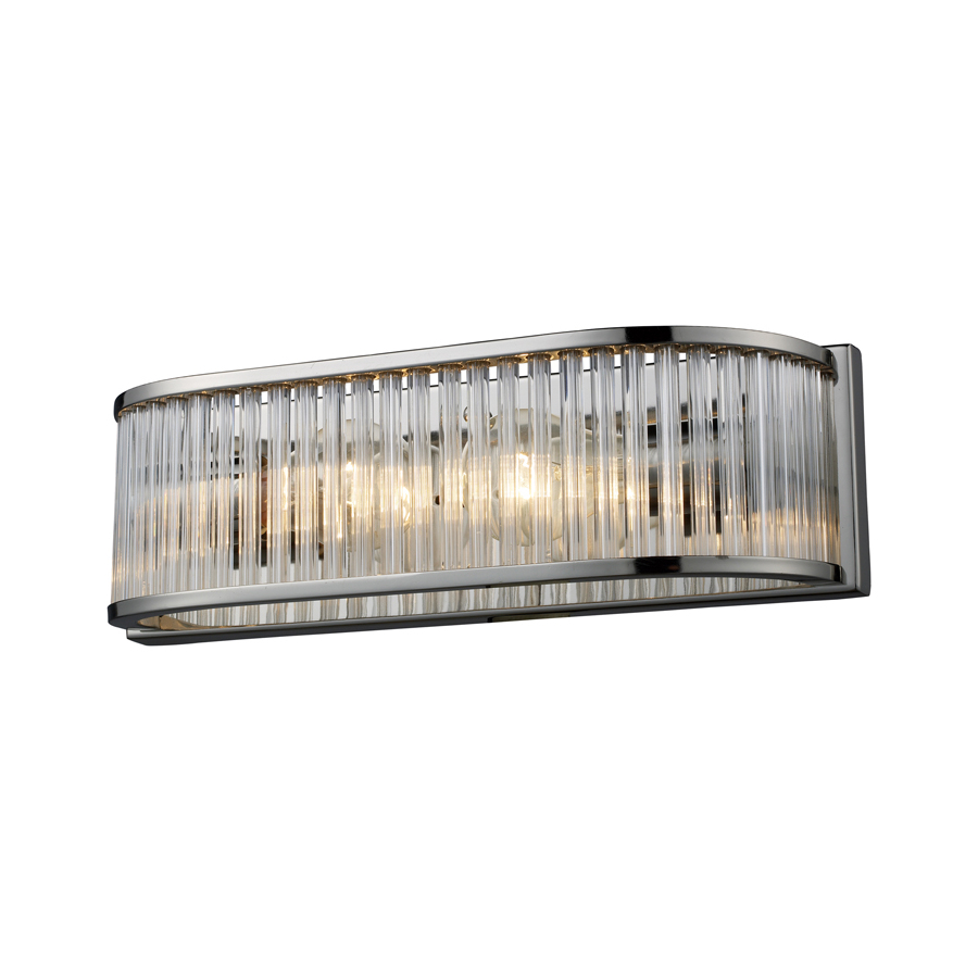 Shop Westmore Lighting Polished Nickel Crystal Bathroom Vanity Light at Lowes.com