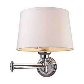 Shop Westmore Lighting 12-in W 1-Light Polished Chrome Arm Hardwired/Plug-In Wall Sconce at ...