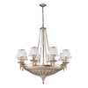 Westmore Lighting Patra 37-in 14-Light Aged Silver Standard Chandelier