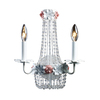Westmore Lighting 12-in W 2-Light Antique White Crystal Arm Wall Sconce