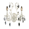 Westmore Lighting 13-in W 2-Light Antique White Crystal Arm Wall Sconce