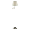 Westmore Lighting Beckett 56-in 3-Way Satin Nickel Touch Indoor Floor Lamp with Fabric Shade