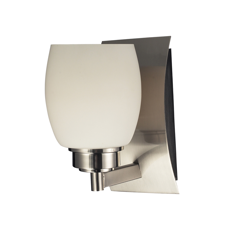 Vanity Light With Outlet Lowes : Shop Westmore Lighting Satin Nickel Bathroom Vanity Light at Lowes.com