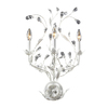 Westmore Lighting 15-in W 3-Light Antique White Crystal Arm Wall Sconce