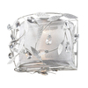 Westmore Lighting 11-in W 2-Light Antique White Crystal Pocket Wall Sconce