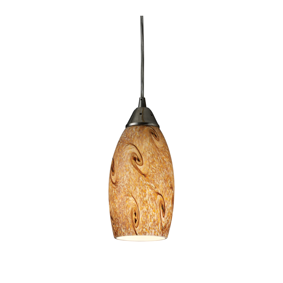 lighting 5 in w nickel mini pendant light with tinted shade at lowes. Black Bedroom Furniture Sets. Home Design Ideas