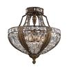 Westmore Lighting So Paulo 18-in W Antique Bronze Clear Glass Semi-Flush Mount Light