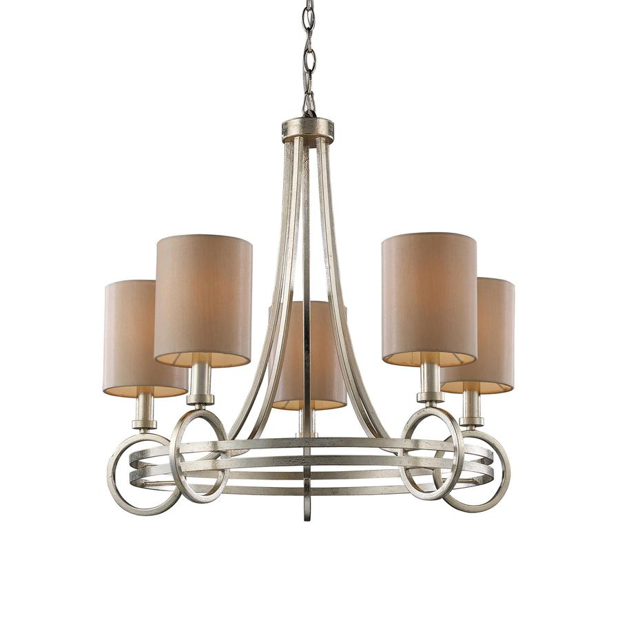 westmore lighting 5 light renaissance silver chandelier at