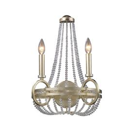 Westmore Lighting 14-in W 1-Light Renaissance Silver Crystal Arm Wall Sconce