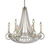 Westmore Lighting Corby 27-in 6-Light Renaissance Silver Crystal Standard Chandelier