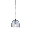 Westmore Lighting 7-in W Satin Nickel Mini Pendant Light with Tinted Shade