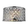 Westmore Lighting 10-in W 1-Light Polished Chrome Crystal Pocket Hardwired Wall Sconce