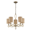 Westmore Lighting Spezia 25-in 5-Light Aged Silver Standard Chandelier