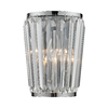Westmore Lighting 7-in W 1-Light Polished Chrome Crystal Pocket Wall Sconce