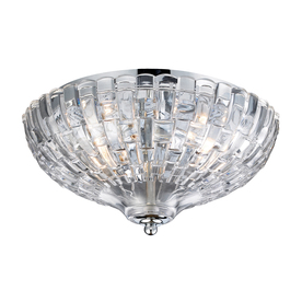 Westmore Lighting 12-in W Polished Chrome Ceiling Flush Mount