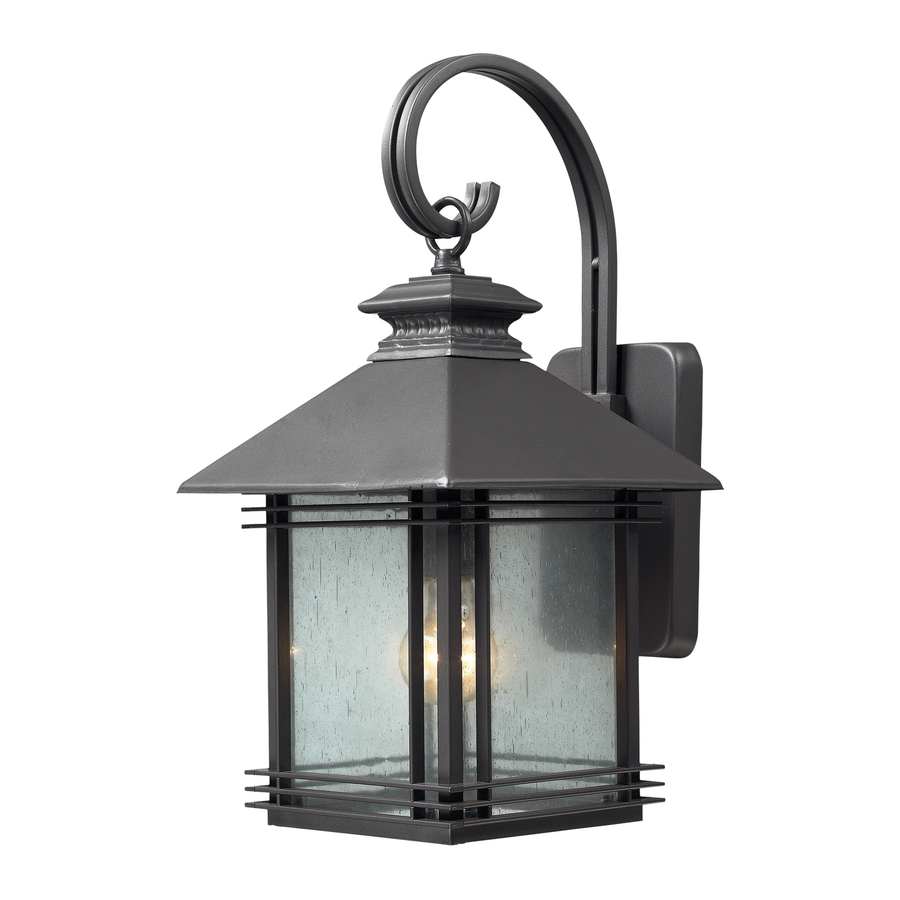 Shop Westmore Lighting 19 In H Graphite Outdoor Wall Light At