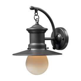 Westmore Lighting Del Mar 12-in H Medium Base (E-26) Graphite Outdoor Wall Light