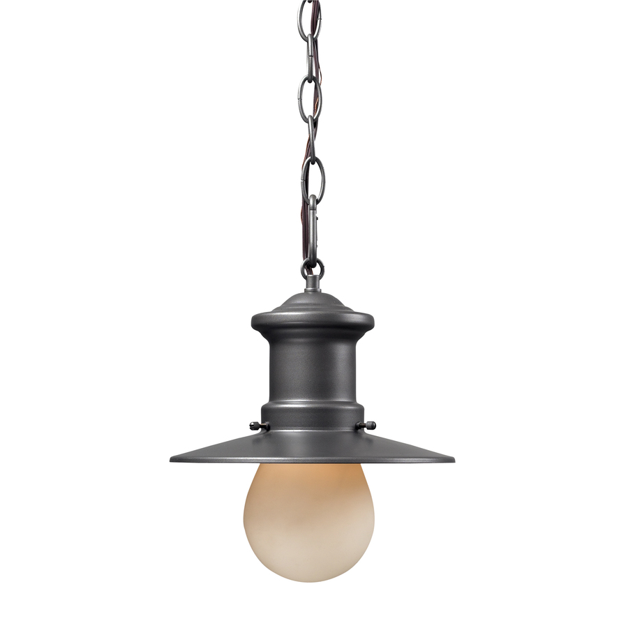 westmore lighting 10 in h graphite outdoor pendant light at. Black Bedroom Furniture Sets. Home Design Ideas