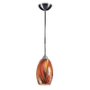 Westmore Lighting 6-in W Satin Nickel Mini Pendant Light with Tinted Shade