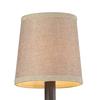 Westmore Lighting 5-in x 5-in Tan Textured Linen Drum Lamp Shade