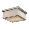 Westmore Lighting Shetland 13-in W Brushed Nickel and Opal White Glass LED Ceiling Flush Mount