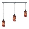 Westmore Lighting Nuvian 36-in Polished Chrome and Mandarin Glass Mini Tinted Glass Pendant