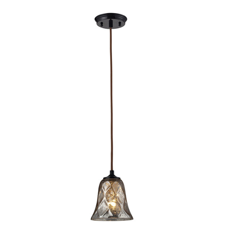 Mini pendant light shades lowes : Westmore lighting erinfield in w oiled bronze mini pendant light with tinted glass shade