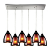 Westmore Lighting Morfield 30-in Satin Nickel and Tinted Glass Mini Tinted Glass Pendant