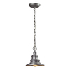 Westmore Lighting Claughton 9-in Matte Silver Outdoor Pendant Light
