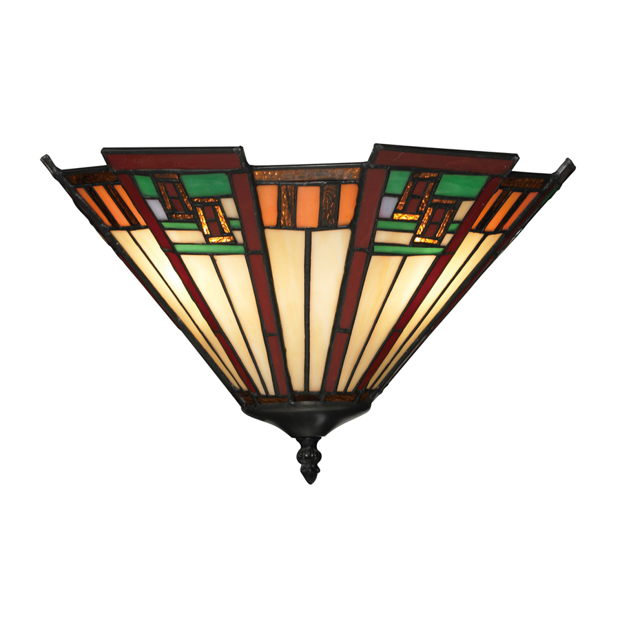 Wall Sconces Tiffany Style : Shop Westmore Lighting Avonwick 15-in W 1-Light Tiffany Bronze and Tiffany Glass Tiffany-Style ...