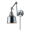 Westmore Lighting 18-in H Polished Chrome Swing-Arm LED Wall-Mounted Lamp with Metal Shade