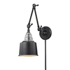 Westmore Lighting 18-in H Oiled Bronze Swing-Arm LED Wall-Mounted Lamp with Metal Shade